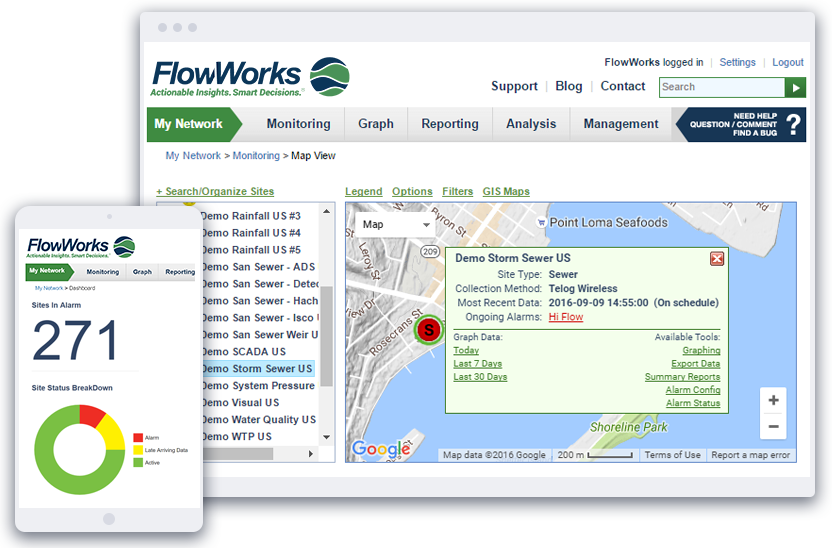 FlowWorks Application.