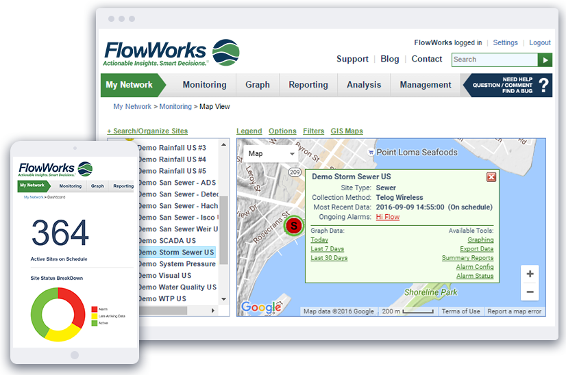FlowWorks Mobile and Desktop Browser