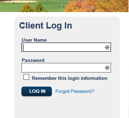 Log-In Screenshot
