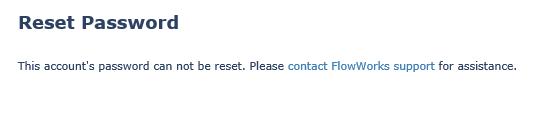 Reset Password Error Screenshot